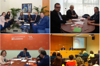 La AEF se reúne en Murcia con los grupos de la Asamblea Regional