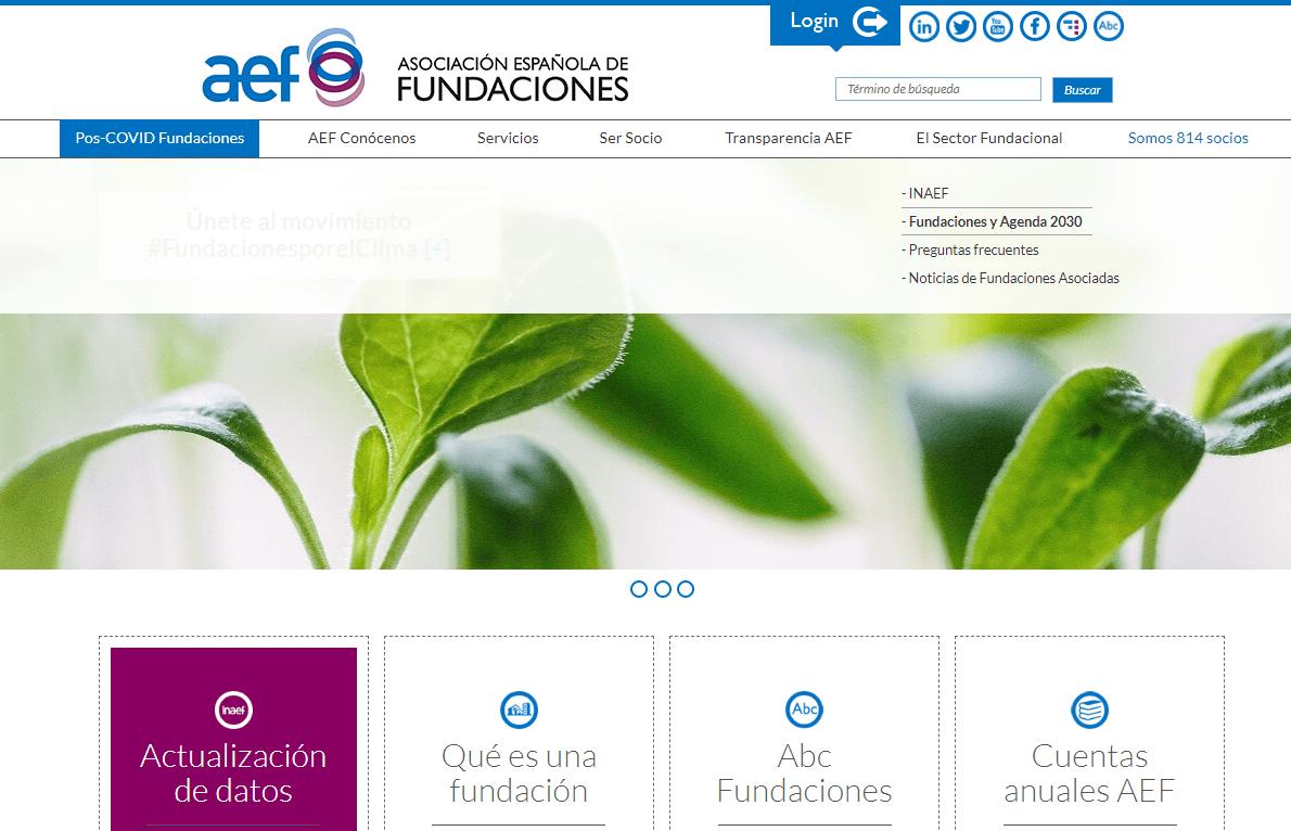 Nueva sección web: Fundaciones y Agenda 2030