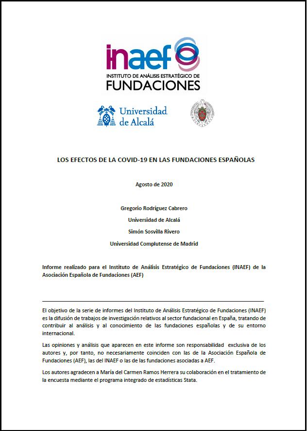 Los efectos de la COVID-19 en las fundaciones españolas