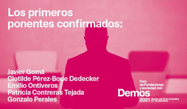 Javier Gomá, Clotilde Pérez-Bode Dedecker, Patricia Contreras Tejada y muchos otros participantes en #Demos2021